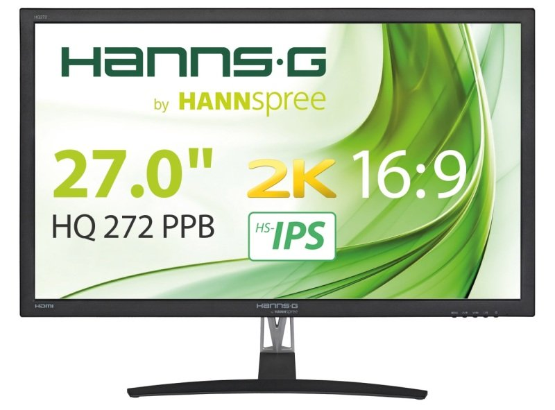 "HannsG HQ272PPB 27"" WQHD 2K IPS Monitor"