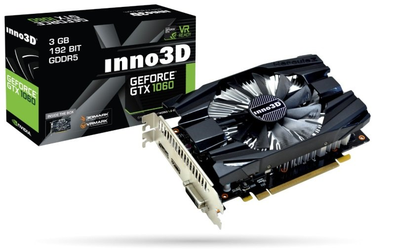 INNO3D GEFORCE GTX 1060 3GB COMPACT GDDR5 Graphics Card