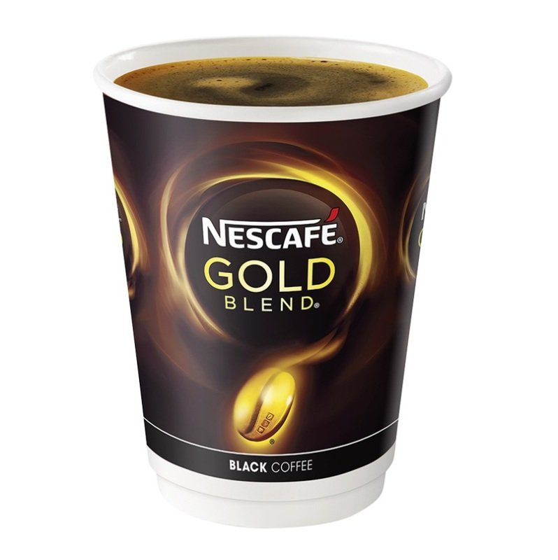 Nescafe Gold Blend Blend Instant Black Coffee Cups (Pack of 8)