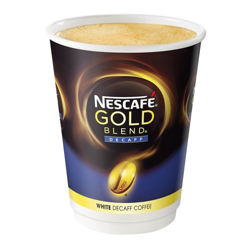 Nescafe And Go Gold Blend Decaff White Coffee - 8 Pack