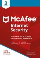 McAfee Internet Security 3 Devices 1 Year Subscription - Electronic Software Download