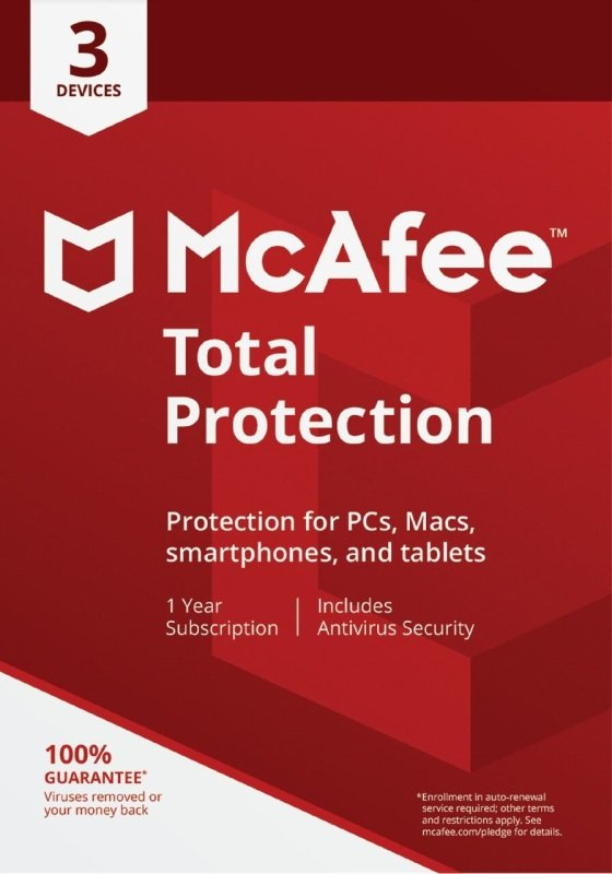 McAfee Total Protection 5 Devices 1 Year Subscription - Electronic Software Download