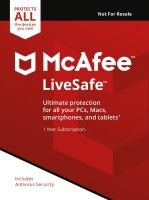 McAfee Livesafe Unlimited Devices 1 Year Subscription - Electronic Software Download
