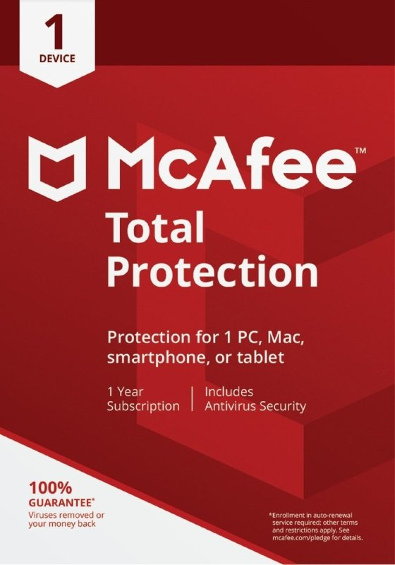 McAfee Total Protection 1 Device 1 Year Subscription - Electronic Software Download