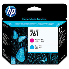 HP No 761 Magenta and Cyan Printhead - CH646A