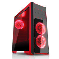 CIT Flash Mid Tower Black Red