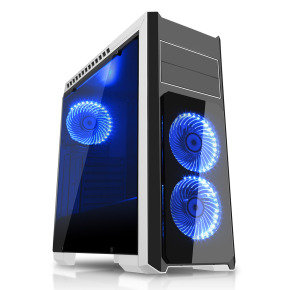 CIT Flash Mid Tower White Blue