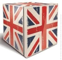 Husky HUS-HU230 Distressed Union Jack Mini Fridge