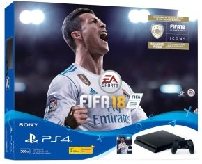 PS4 500gb Black with Fifa 18