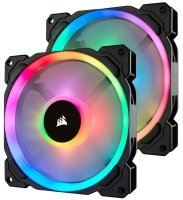Corsair LL Series LL140 RGB 140mm Dual Light Loop RGB LED PWM Fan 2 Fan Pack