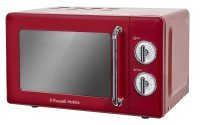 Russell Hobbs RHRETMM705R Retro 17 Litre Red Manual Microwave