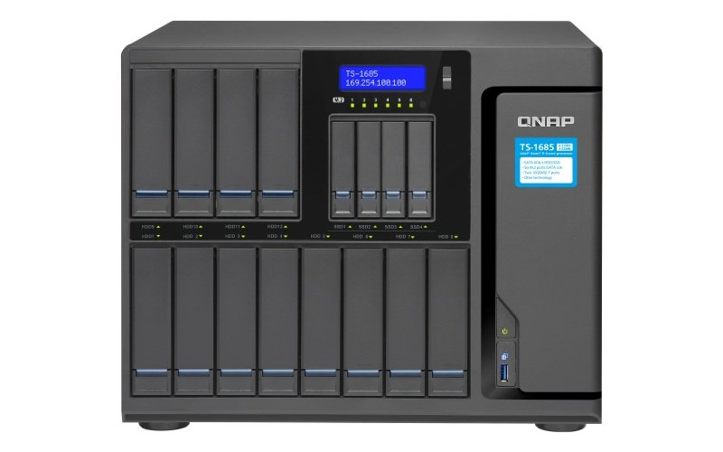 QNAP TS-1685-D1521-16G 72TB (12 x 6TB WD RED PRO) 16 Bay w/ 16GB RAM