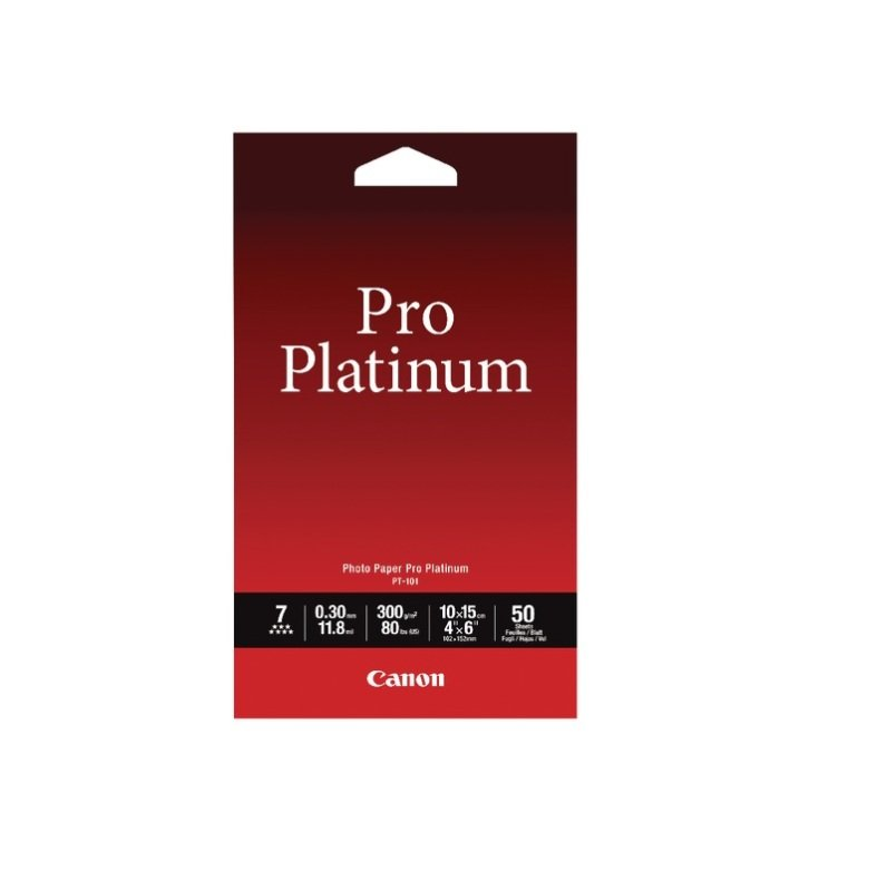 Canon Pro Platinum Photo Paper 4 x 6 Inch Pack of 50