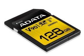 ADATA Premier ONE 128GB SDXC Card UHS-II Class 10 (U3) V90 Video Speed (8K) R/W 290/260 MB/s