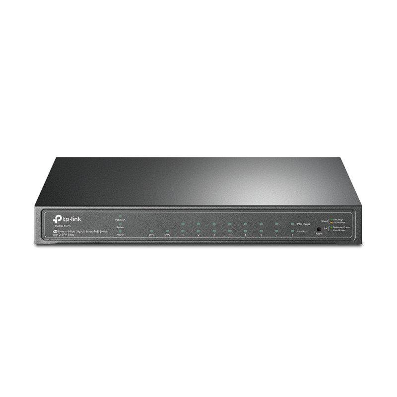 TP-Link T1500G-10PS JetStream 8-Port Gigabit Smart PoE Switch w/2 SFP
