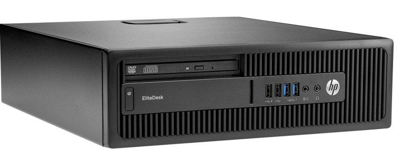 Image of HP EliteDesk 705 G3 SFF Desktop, AMD Ryzen 5 PRO 1500 Quad-Core 3.5GHz, 8GB RAM, 256GB SSD, DVDRW, AMD Radeon R7, Windows 10 Pro 64bit, 3 Year Warranty