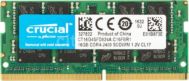 Crucial 16GB 2400MHz DDR4 RAM Memory