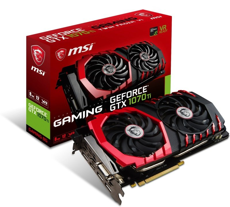 MSI GeForce GTX 1070 Ti GAMING 8GB GDDR5 Graphics Card