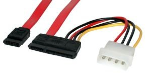 """Startech  Serial ATA Cable With LP4 - Adapter 18"""""""