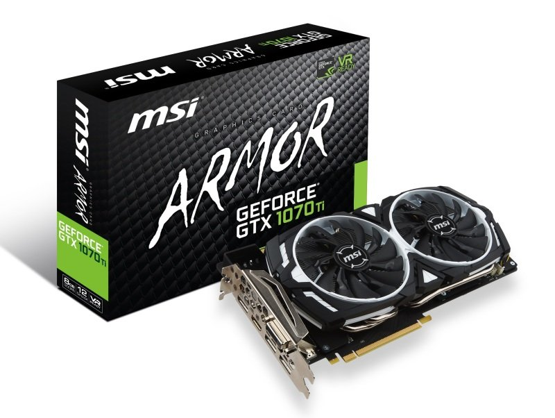 MSI GTX 1070 Ti ARMOR 8GB GDDR5 Graphics Card