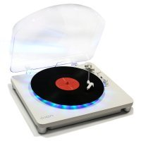 ION Audio Photon LP 3-Speed Turntable with Built-In Multi-Coloured Lighting Display and USB Conversion