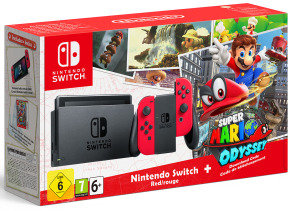 Nintendo Switch HW Super Mario Odyssey (Limited Edt)...