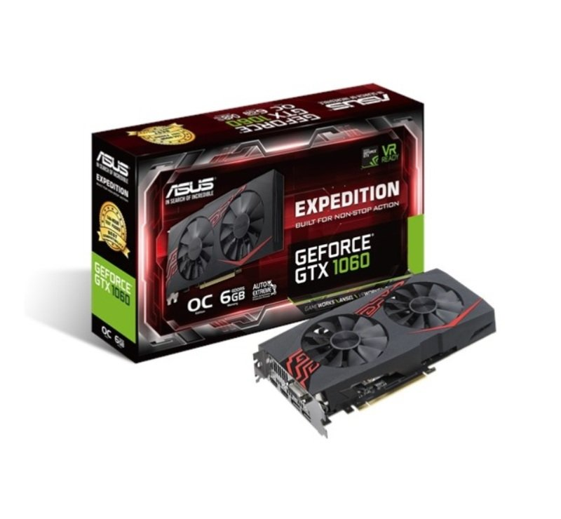 Asus Expedition GeForce GTX 1060 OC edition 6GB GDDR5 Graphics Card