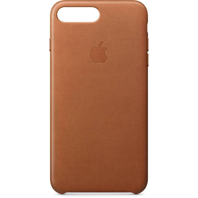 Apple iPhone 7 8 Plus Leather Case - Saddle Brown