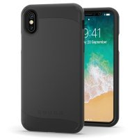 Snugg Infinity - Back Cover For Mobile Phone - Polycarbonate, Thermoplastic Polyurethane - Black - For Apple Iphone X
