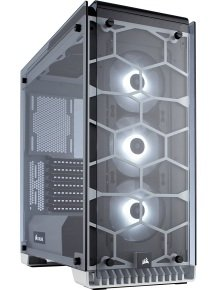 EXDISPLAY Crystal Series 570X RGB Tempered Glass Premium ATX Mid Tower Case WHITE