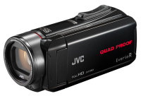 JVC GZ-R435 Black Quad Proof Camcorder Kit inc Case & Brown HA-SR75S Headphones