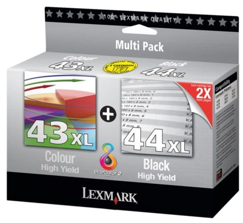 Lexmark #43 and #44 Combo Pack