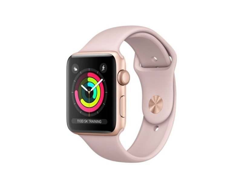 Apple Watch Series 3 GPS, 42mm Gold Aluminium Case with Pink Sand Sport Band cheapest retail price