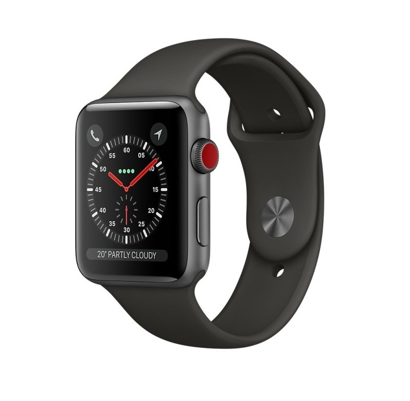 Apple Watch Series 3 GPS, 38mm Space Grey Aluminium Case with Grey Sport Band cheapest retail price