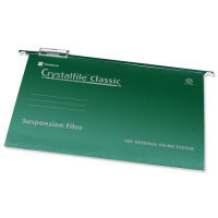 EXDISPLAY Rexel Crystalfile Classic Suspension File Complete A4 Green (Pack of 50)