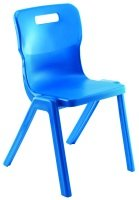 Blue Titan One Piece Polypropylene Chair