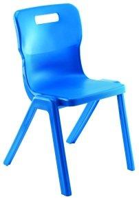 Blue Titan One Piece Polypropylene Chair