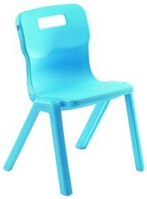 Sky Blue Antibacterial One-Piece Polypropylene Chair