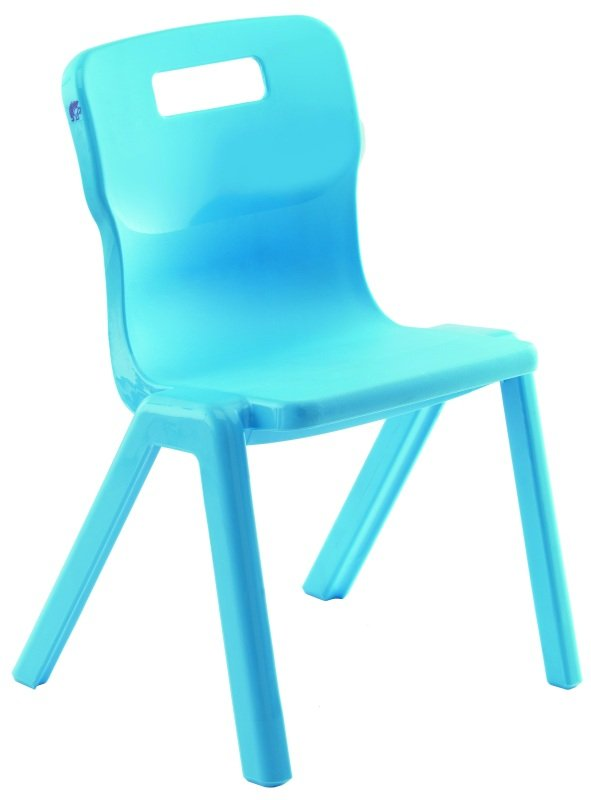 Sky Blue Antibacterial One-Piece Polypropylene Chair