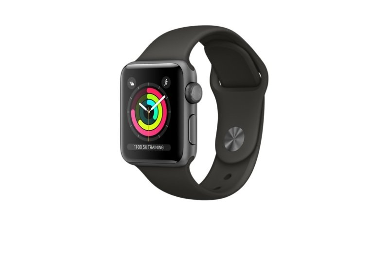 Apple Watch Series 3 GPS, 42mm Space Grey Aluminium Case with Grey Sport Band cheapest retail price