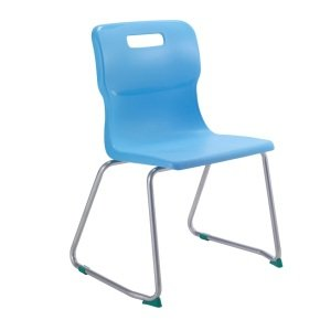 Skid Base Titan Chair - Blue