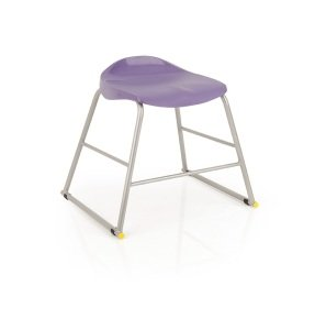 Titan Purple Poly Lipped Stool