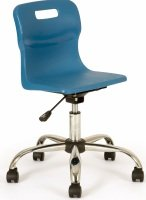 Blue Junior Swivel Titan chair