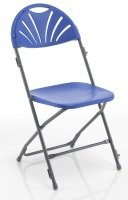 Linking Fan Back Folding Chair - Blue