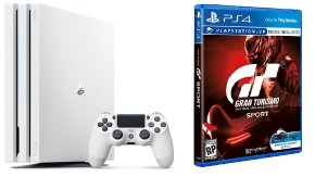Sony 1TB PS4 PRO White with GT SPORT