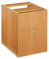 Fixed Pedestal 2 Drawers Beech