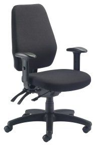 Ebuyer Fabric Operator Chair - Black