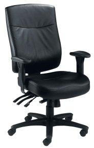Marathon Leather Operator Chair In Black