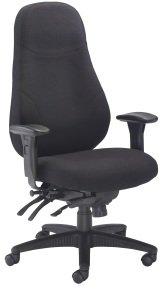 Ebuyer Cheetah Fabric Office Chair - Black