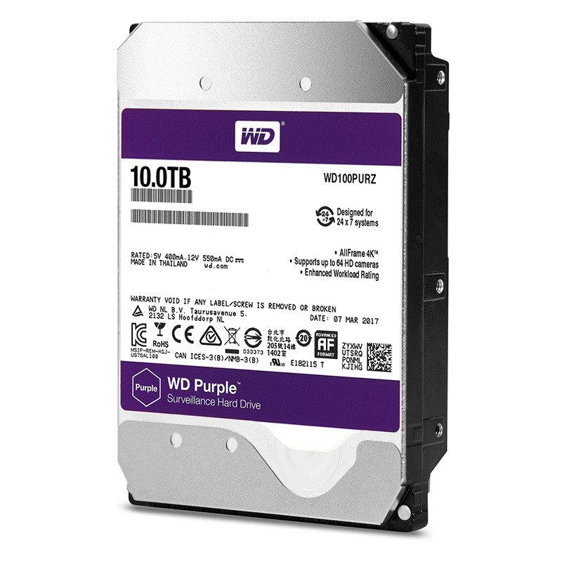"WD Purple Surveillance 10 TB Internal HDD - 3.5"""